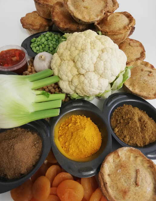 Cauliflower, Fennel & Pea Tagine Vegan Pie