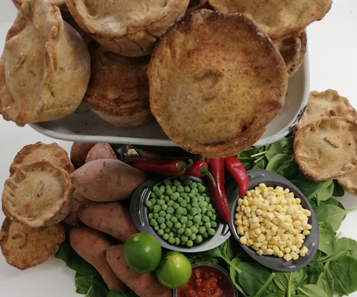 Mkomazi Sweet Potato with Red Pepper Relish Vegan Pie